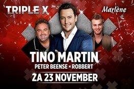 TRIPLE X met Tino Martin, Peter Beense en Robbert in Marlene op zaterdag 23 november